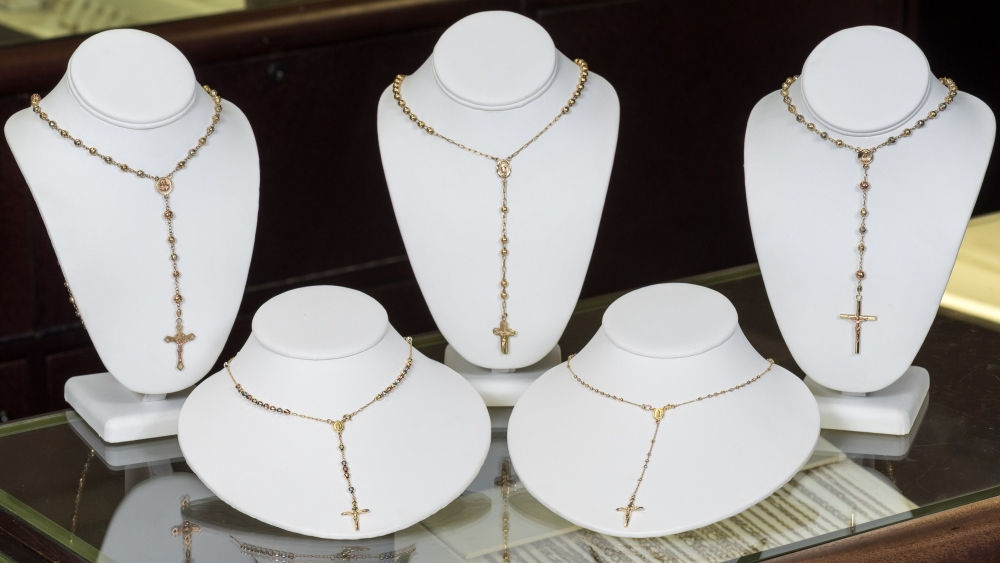 An example of religious jewelry in our Kansas City jewelry store